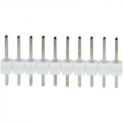 10p 2.54 mm Male Pin Header (White)