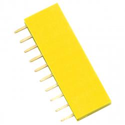 10p 2.54 mm Female Pin Header (Yellow)