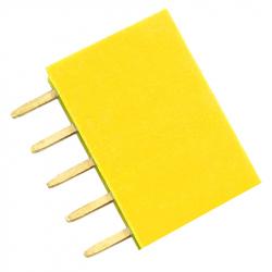 5p 2.54 mm Female Pin Header (Yellow)