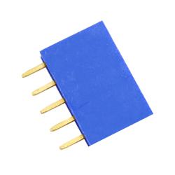 5p 2.54 mm Female Pin Header (Blue)