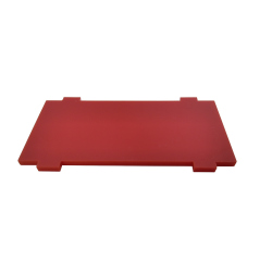 Plate for Front/Back Mounting on the 4 Motors Robot Kit (Simple, Red)