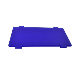 Plate for Front/Back Mounting on the 4 Motors Robot Kit (Simple, Blue)