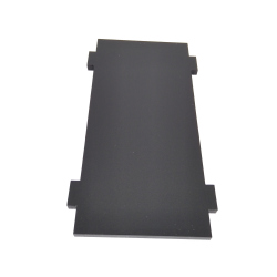 Plate for Front/Back Mounting on the 4 Motors Robot Kit (Simple, Black)