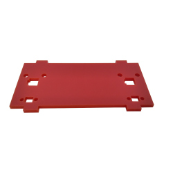 Plate for Front/Back Mounting on the 4 Motors Robot Kit (with mounts for LEDs, Red)
