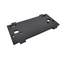 Plate for Front/Back Mounting on the 4 Motors Robot Kit (with mounts for LEDs, Black)