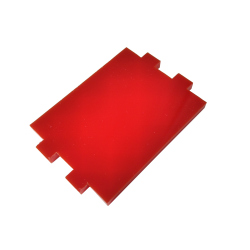 Plate for Side Mounting on the 4 Motors Robot Kit (Red)