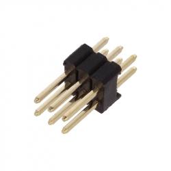 2 x 3p 1.27 mm Male Pin Header