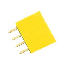 4p 2.54 mm Female Pin Header (Yellow)