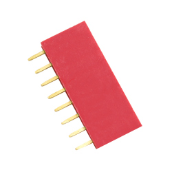 8p 2.54 mm Female Pin Header (Red)