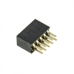 2 x 5p 1.27 mm Female Pin Header