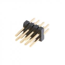 2 x 4p 1.27 mm Male Pin Header