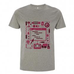 Grey Raspberry Pi T-shirt Adult Size Small