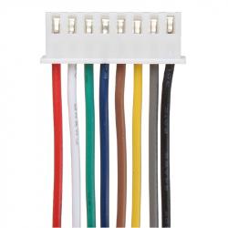 8p XH2.54 Colored Single Head Cable (20 cm)