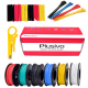 Plusivo Silicone Wire Kit (22AWG, 6 colors, 7m each) (unsealed)