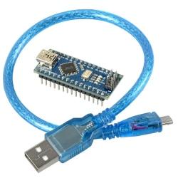 Placă de Dezvoltare compatibilă cu Arduino Nano (ATmega328p și CH340) + Cablu