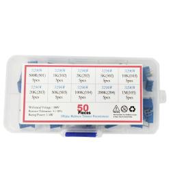 Mini Potentiometer Kit (10 Types, 50 pcs)