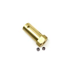Long Hexagonal Motor Coupling Hub (4 mm) gold