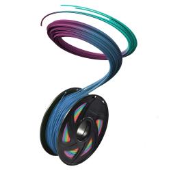 1.75 mm, 1 kg PLA Silk Gloss Filament for 3D Printer - Rainbow