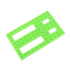 Placă de Plastic Mică Găurită Verde