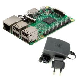 Pachet Raspberry Pi 3 Model B + Alimentator de 2.5 A, 5.1 V