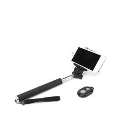 Selfie stick negru cu bluetooth si telecomanda