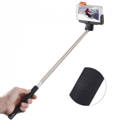 Black Selfie Stick with Bluetooth and Button