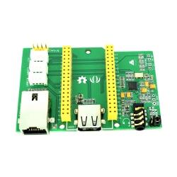 Placă de Bază pentru LinkIt Smart 7688 v2.0 cu Ethernet, Audio, USB, UART, I2C și Conectori Grove
