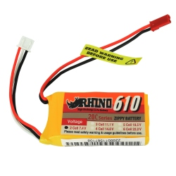 LiPo Rhino 7.4V 610 mAh 20C Battery