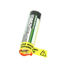 Cylindrical 1200 mAh 1S 15C Nano-Tech LiPo Turnigy Battery