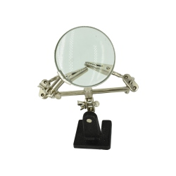 Magnifying glass with pliers