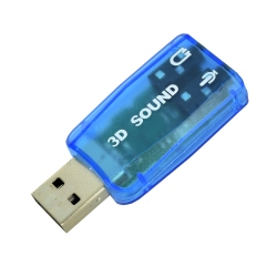 USB Sound Card 5.1 (Blue)
