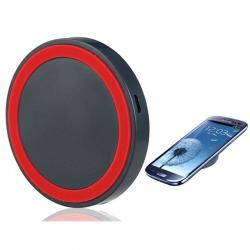 Incarcator wireless universal cu inel rosu