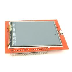 Shield pentru Arduino LCD Rosu de 2.4'' cu Touchscreen şi Pictograme