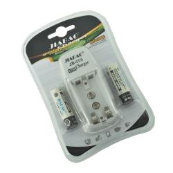 Set 2 Acumulatori NiMh AA cu Încărcător pentru Acumulatori Ni-MH AA / AAA / 9V