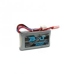 Acumulator LiPo de Tensiune Înaltă Turnigy Bolt 500 mAh 2S 7.6 V 65~130C (7.6 V, LiHV)