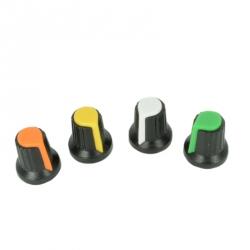 Capac Colorat pentru Potentiometru Negru cu Alb