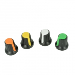 Colored Cover for Potentiometer (Black and Green)