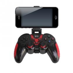 Joystick Wireless Roșu cu Negru cu Suport pentru Telefon