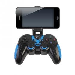 Joystick Wireless Albastru cu Negru cu Suport pentru Telefon