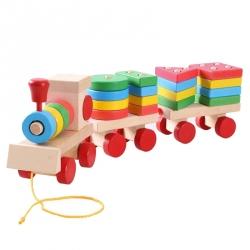 Trenulet cu forme din lemn